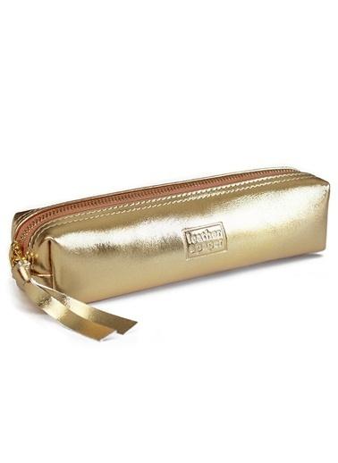 Leather & Paper Deri Kalem Kutusu Altın